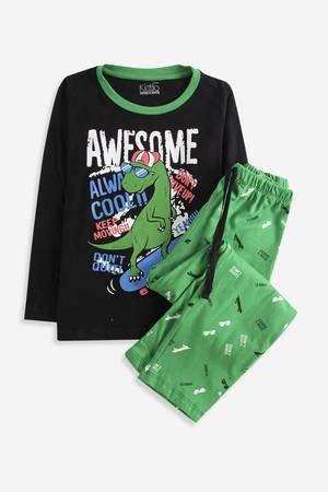 Pijama infantil de manga larga de algod/ón Bulldozer de 3 a 11 a/ños tibur/ón coche de bomberos dise/ño de dinosaurio Bricnat 2 piezas cielo estrellado